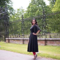 Designer Lookbook: Gina Brar Womenswear. Black lace anarkali.