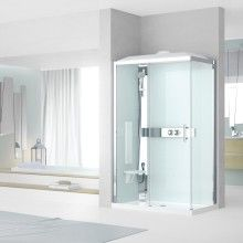 Collection Shower cubicles - Novellini: To give yourself a dream experience, the answer is: the Novellini shower cabins Shower Cabin, Shower Cubicles, Sliding Doors, Bathroom Medicine Cabinet, Locker Storage, Mirror, Furniture, Home Decor, Products