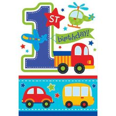 All Aboard Boy Thank You Cards 8ct.