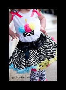 Zebra Pettiskirt with Rainbow Ruffles  $50