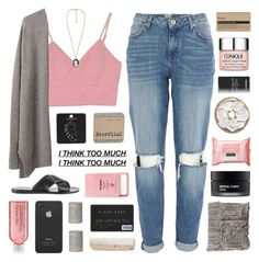 """""""~i think too much"""" by emmas-fashion-diary ❤ liked on Polyvore featuring River Island, Giada Forte, Ancient Greek Sandals, Forever 21, Avon, Topshop, Adrienne Landau, Neutrogena, Koh Gen Do and Pier 1 Imports"""