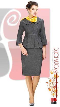 Модные костюмы для полных дам белорусской компании Мода-Юрс. Осень 2015