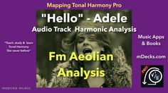 Hello - Adele Piano Version (Fm Analysis using Mapping Tonal Harmony Pro)