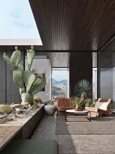 Decoration Terrasse - Bright Idea - Home, Room, Furniture and Garden Design Ideas Exterior Design, Interior And Exterior, Interior Garden, Outdoor Spaces, Outdoor Living, Outdoor Life, Outdoor Decor, Outdoor Gardens, Desert Homes