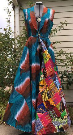 Faire une scène Wax africain réversible imprimé par WithFlare
