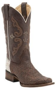 Corral® Rodeo Collection™ Women's Brown/White Shoulder Double Welt Square Toe Western Boots   Cavender's
