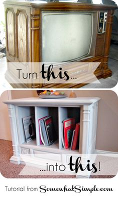 How to turn a curbside TV into something fantastic! Instructions from SomewhatSimple