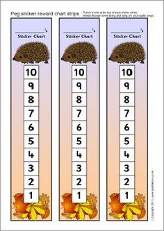 Hedgehog témájú peg matrica jutalom chart csíkok (SB9904) - SparkleBox