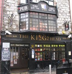 Galway Ireland: The King's Head. The capital of the West of Ireland. The streets and buildings of this ancient town have many interesting features, and its position on the edge of the Gaeltacht (Irish speaking area) makes it the gateway to magnificent areas such as Connemara, Corrib country, and the Aran Islands.