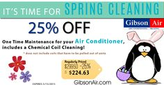 """Air conditioning Maintenance Tune Up coupon for Air Conditioning Maintenance service in Las Vegas! Be prepared for the Vegas heat this summer with our 25% off of a One Time Maintenance for your Air Conditioner! """"SHARE"""" this post to pass along the energy & money saving deals to your friends! Visit www.gibsonair.com for more specials!"""