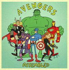 Terrific Avengers Illustrations