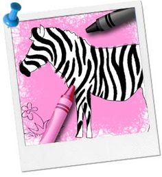 Zebra Coloring Page - Find more Zebra Games and Activities at http://www.birthdayinabox.com/party-ideas/guides.asp?bgs=193