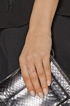 Monica Vinader|Riva rose gold-plated diamond ring|NET-A-PORTER.COM