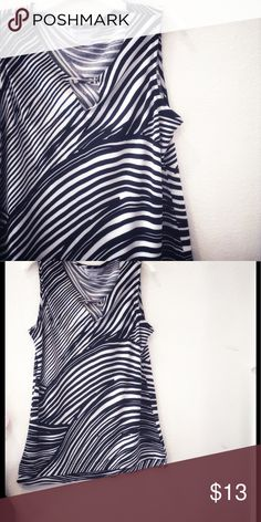 Zebra striped top Brand new Tops Blouses