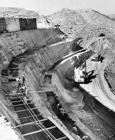 Dodger Stadium under construction, November 17, 1960.