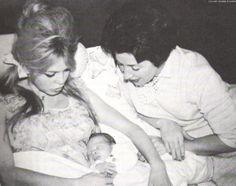 "missbrigittebardot: "" Brigitte Bardot, her mother in law and her newborn son Nicolas, January 1960 "" Susan Sarandon, Marlon Brando, Jane Birkin, Jack Nicholson, Brigitte Bardot Young, Jacques Charrier, Bridgitte Bardot, Cinema, French Films"