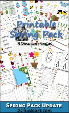 Spring Pack from 3 Dinosaurs - Over 150 pages of activities for ages 2 to 8.