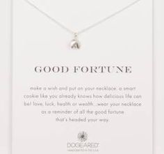 Dogeared Sterling Silver Good Fortune Necklace