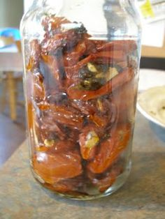 Canned, roasted tomatoes.  Lots of other ideas for growing, cooking, and preserving food on this blog.