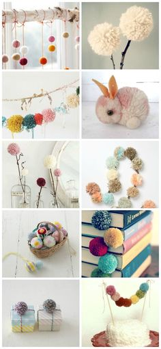 Pompones lana manualidades diy, pom pom crafts y crafts. Kids Crafts, Diy And Crafts Sewing, Crafts For Teens, Craft Projects, Arts And Crafts, Pom Pom Crafts, Yarn Crafts, Diy Y Manualidades, Ideias Diy