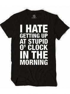 "Women's ""Stupid O'Clock"" Vintage Tee by Glitz Apparel (Black) #InkedShop #wordtee #clock #humor #morning"