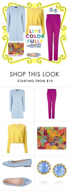 """""""Live Color Fully"""" by astylemave ❤ liked on Polyvore featuring Coast, Diane Von Furstenberg, See by Chloé, Alicia Klein, Nova Rosa, Larkspur & Hawk and WardrobeStaple"""