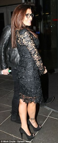 Kym Marsh shows off her specs appeal in stunning beautiful black dress #dailymail