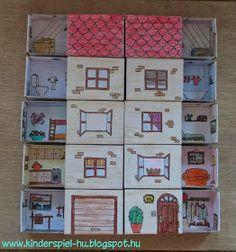 23 Clever DIY Christmas Decoration Ideas By Crafty Panda Matchbox Crafts, Matchbox Art, Paper Doll House, Paper Houses, Diy Arts And Crafts, Paper Crafts, Diy Crafts, Craft Activities, Preschool Crafts