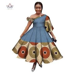 african dress styles Image of New Arrival Summer Women Dress Casual Printed Dashiki Women's African Dress Irregular Private Customized Dresses BRW Best African Dresses, African Fashion Ankara, African Traditional Dresses, African Print Dresses, African Print Fashion, African Attire, African Clothes, Seshweshwe Dresses, Custom Dresses