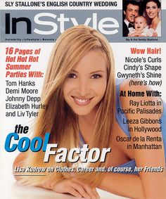 InStyle Magazine Covers: 1997 - August, Lisa Kudrow from #InStyle