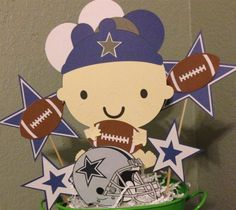 Elegant Dallas Cowboys Party Centerpieces For Kids