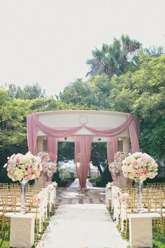 "These 10 gorgeous wedding ceremony decor ideas will knock your socks off. Indoors and outdoors, featuring all styles: classic, contemporary, destination and even whimsical, these wedding ceremony aisles are anything but average. Pick your favorite and get some inspiration for your own wedding. Click the ""pin it"" sign on the top left of each image read more..."