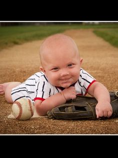 baby baseball photo awe this is so cute. 6 Month Baby Picture Ideas Boy, Baby Boy Pictures, Baseball Pictures, Newborn Pictures, Baby Photos, Toddler Photography, Newborn Photography, Photography Ideas, 1st Birthday Pictures