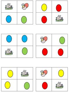 Spanish Easter activity - Material for children to learn and play with the words egg, rabbit, chick, and some colours.