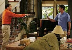 charlie harper's stairs - our original inspiration! Two And Half Men, Half Man, Scary Movie 4, Crazy Neighbors, Single Parenthood, Jon Cryer, Spin City, Charlie Sheen, Two Brothers