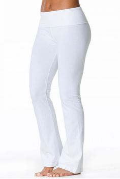 The Hard Tail Rolldown Bootleg Flare Pant in White will lend classic style to your wardrobe. This full length pant features a bootleg cut, with an adjustable roll down waist, offering comfort and relaxed style. Made of a soft cotton fabric, with an elasti Cute Things For Girls, Flare Pants, Workout Wear, Street Style Women, Everyday Fashion, Cotton Fabric, Scarfs, Classic Style, Womens Fashion