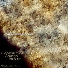 Cobblestone Grunge - Download  Photoshop brush http://www.123freebrushes.com/cobblestone-grunge/ , Published in #GrungeSplatter. More Free Grunge & Splatter Brushes, http://www.123freebrushes.com/free-brushes/grunge-splatter/ | #123freebrushes