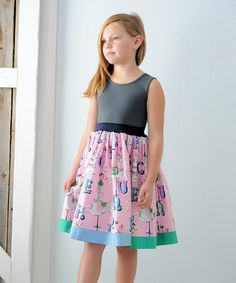 Another great find on #zulily! Gray Merry We Go Sabrina Dress - Infant, Toddler & Girls #zulilyfinds