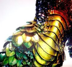 Coloured metalic scales - dress by Thierry Mugler FW 1997 I remember how huge this design was.