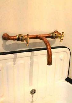 Indoor copper taps #tapware #taps #coppertaps #bathroomfixtures #copper #bathroom #fixtures