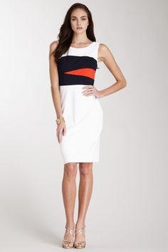 Nue by Shani Ponte Knit Tank Dress