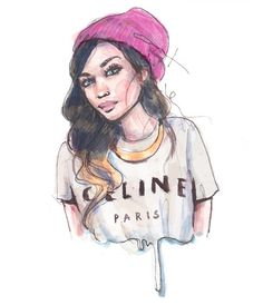 Image shared by malia carter. Find images and videos about beautiful, pretty and art on We Heart It - the app to get lost in what you love. Cartoon Drawings, Art Drawings, Shirt Drawing, Little Paris, Tumblr Fashion, Diy Fashion, Serious Relationship, Fashion Sketches, Drawing Fashion