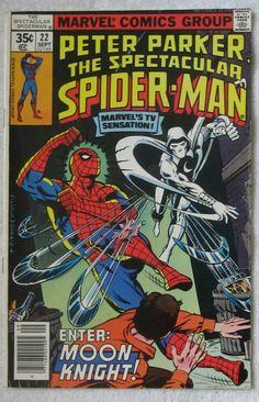 The Spectacular Spider-Man #22 (Sep 1978, Marvel) Moon Knight app F/VF 7.0