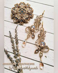 Soutache Necklace, Tassel Earrings, Button Crafts, Shibori, Bead Crafts, Beaded Embroidery, Boho Jewelry, Jewerly, Knit Crochet