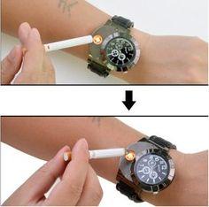 Electronic Lighter & USB Quartz Watch