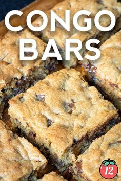 These bars have staying power but they're actually a vintage recipe. Congo Bars were common in church cookbooks and grandmas' kitchens for decades and they taste every bit as good today. That's generally a good sign that they're perfect for things like bake sales and potlucks and parties, but I certainly don't mind just having a tray sitting out on my own kitchen counter as an afternoon pick-me-up. (No one else in my family has complained about that either.) 12 Tomatoes Recipes, Congo Bars, Soft Chocolate Chip Cookies, Potlucks, Pick Me Up, Bake Sale, Vintage Recipes, Blondies, Brown Sugar