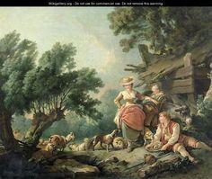 Pastoral Scene - Jean-Baptiste Huet