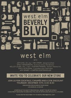 poster | west elm store grand opening