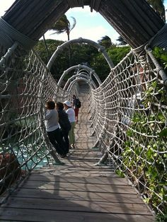 Rope Bridge, Nassau, The Bahamas.