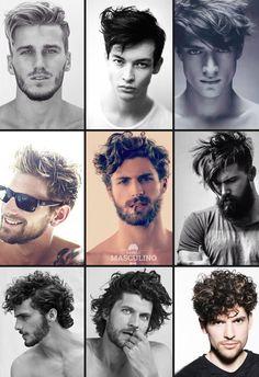 Cabelo masculino 2016: Veja quais tendências apostar - Cabelo Masculino Curly Hair Cuts, Long Hair Cuts, Curly Hair Styles, Messy Waves, Soft Waves, Barber Shop Haircuts, Haircuts For Men, Hair Dos, My Hair